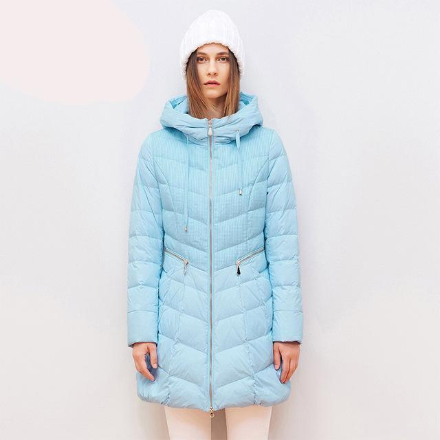 high quality pocket hooded long down coat-Coats & Jackets-SheSimplyShops