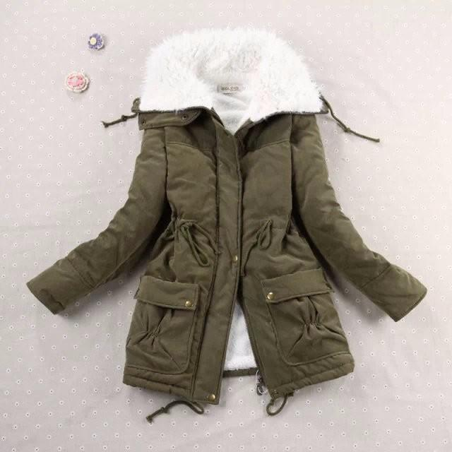 Cotton Padded Parkas Winter Coat-Coats & Jackets-SheSimplyShops