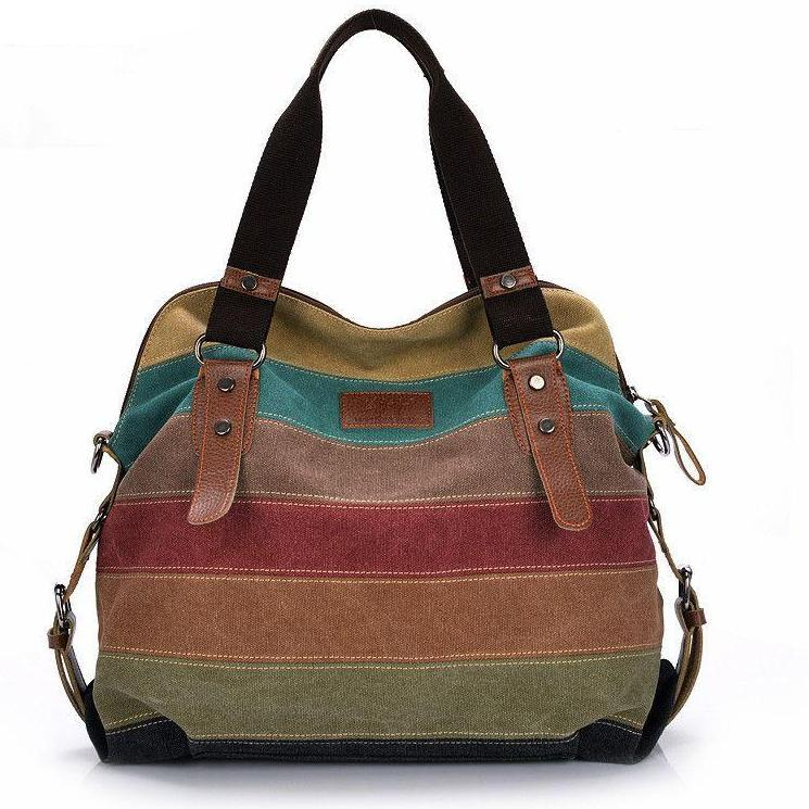 Canvas Bag Tote Striped Women Handbags Patchwork Women Shoulder Bag New Fashion Sac a Main Femme De Marque Casual Bolsos Mujer-BAGS-SheSimplyShops