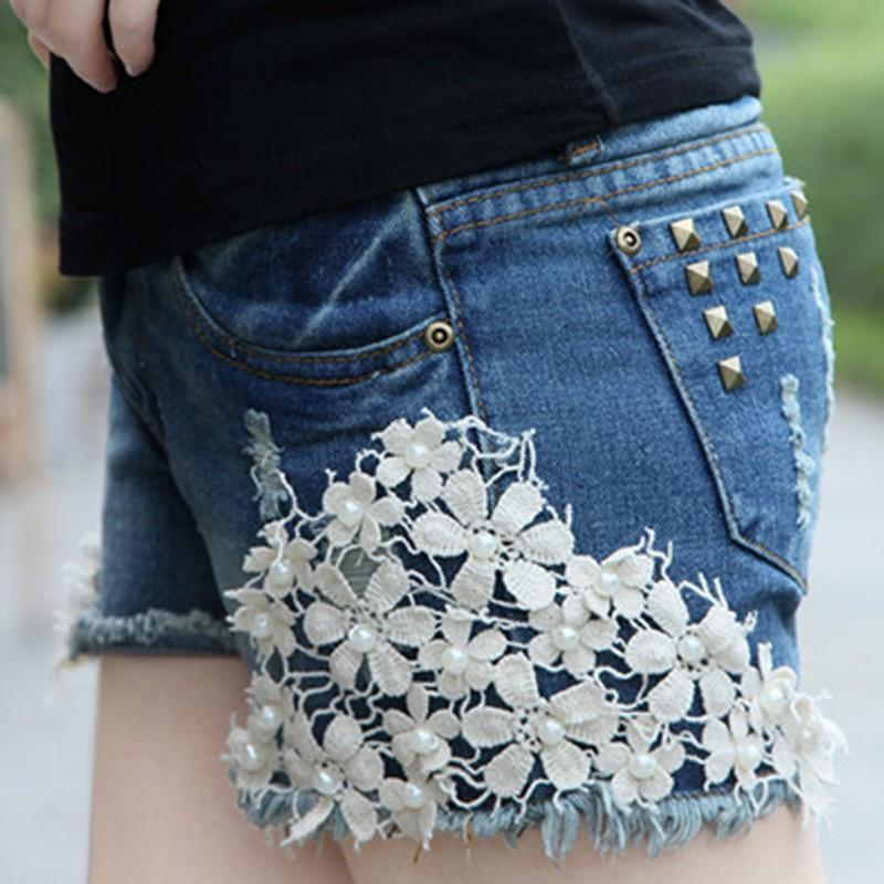 Hot Fashion Women Lady'S Sexy Summer Casual Denim Shorts Hollow Out Low Waist Shorts Short Jeans-JEANS-SheSimplyShops