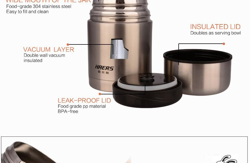 Stainless Steel Insulated Food Jar With Bag-BAGS-SheSimplyShops