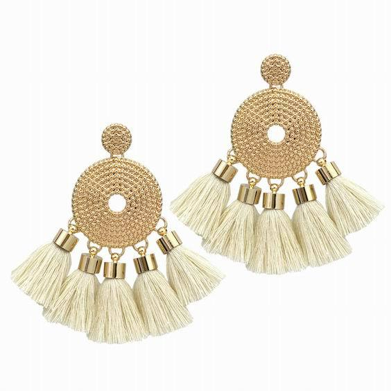 Bohemian Tassel Earrings-EARRINGS-SheSimplyShops