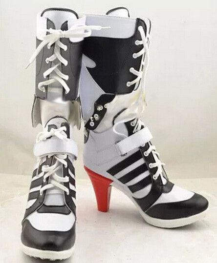 Batman Suicide Squad Harley Quinn Movie Cosplay Costumes Shoes-BOOTS-SheSimplyShops