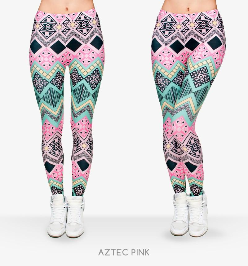 Zohra New Fashion Aztec Printing Leggings Punk Women's fitness Legging Stretchy Trousers Casual Pants Leggings-PANTS-SheSimplyShops