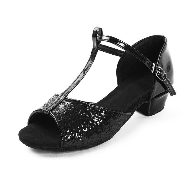 BALLROOM SALSA LATIN DANCE LOW HEELS SHOES-SHOES-SheSimplyShops