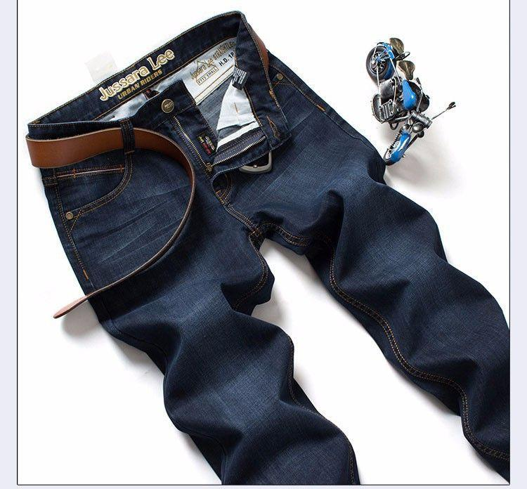 Brand Heavyweight More Thick Winter Jeans Top quality High Grade Slim jeans Straight Retro men Denim jeans-JEANS-SheSimplyShops