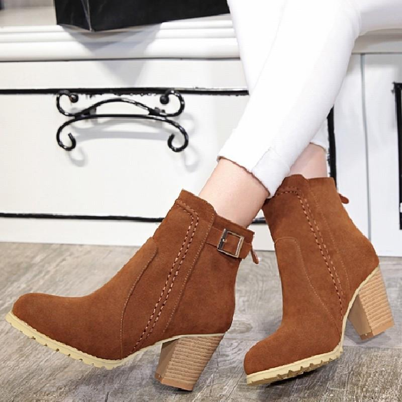Buckle Strap Boots-BOOTS-SheSimplyShops