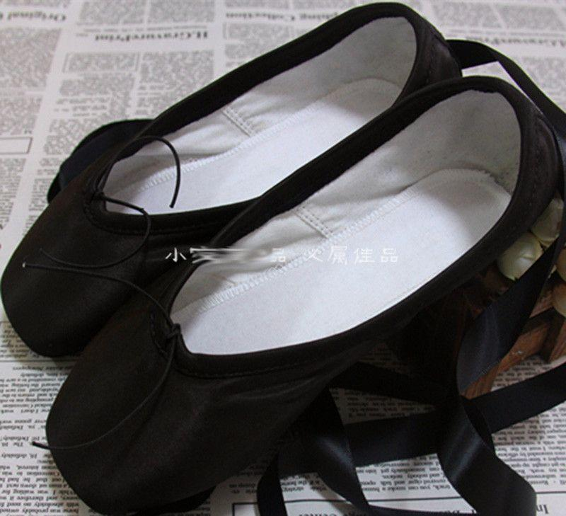 Professional black ballet pointed shoes-SHOES-SheSimplyShops