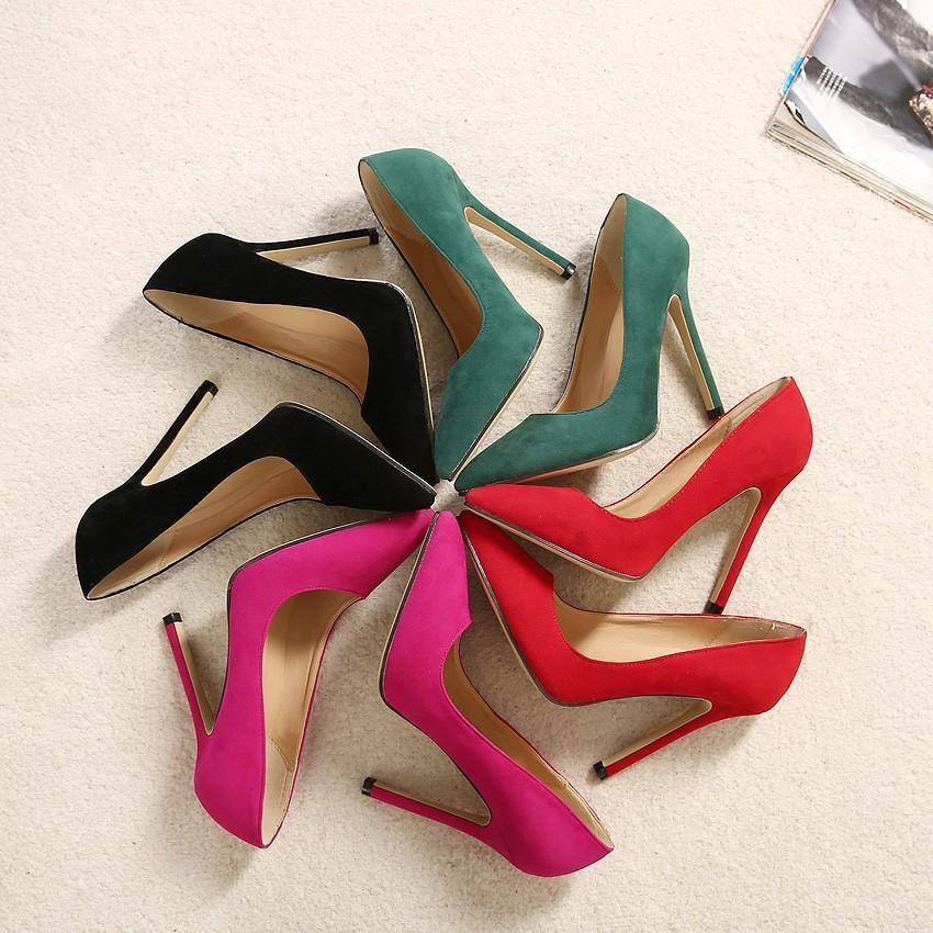 Stylish Pumps Pointed Toe Slip High Heels-SLIPS-SheSimplyShops