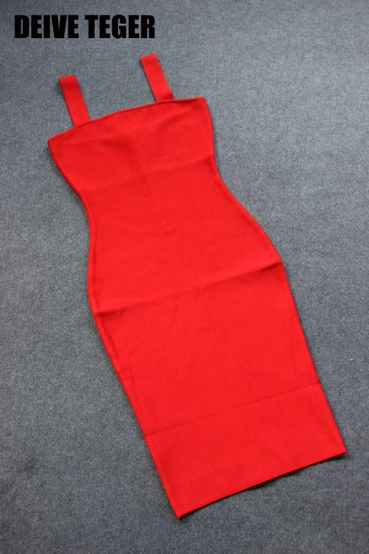 Dress solid red and pink bandage dress pencil Club woman dress slit Party sexy Dresses-Dress-SheSimplyShops