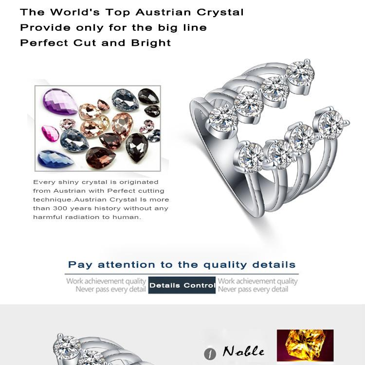 LZESHINE Unique Thin Four-banded Ring Open Front Anel Silver Plate 8pcs CZ Stone Ring for Women Fashion Punk Jewelry CRI0336-JEWELRY-SheSimplyShops