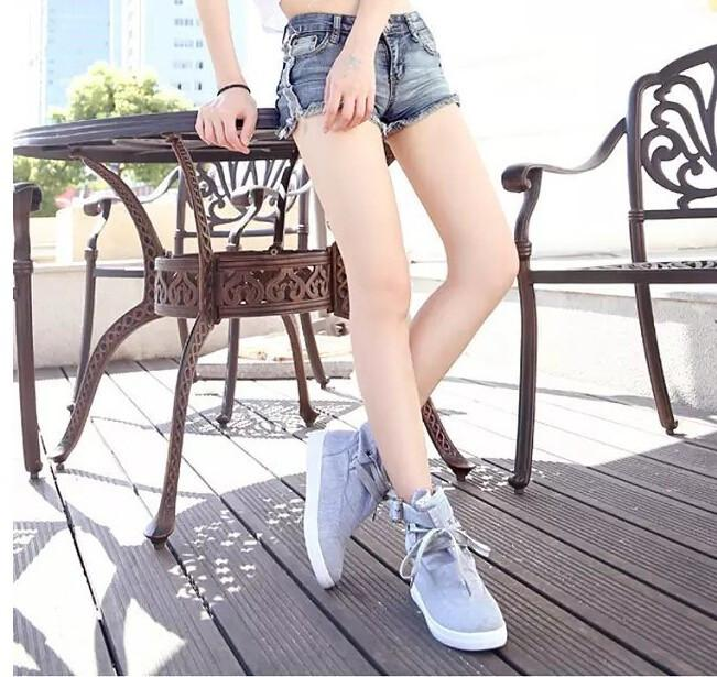 Spring Autumn Ankle Boots Solid Buckle Canvas Women Boots High Top Shoes Woman XWX1524-SLIPS-SheSimplyShops