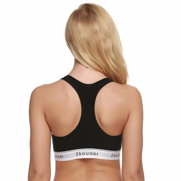 Women Top Bra Fitness Bralette Workout No Bounce Full Support Seamless Bra Stretch Cotton Soft Full Cup Bra-Tops-SheSimplyShops
