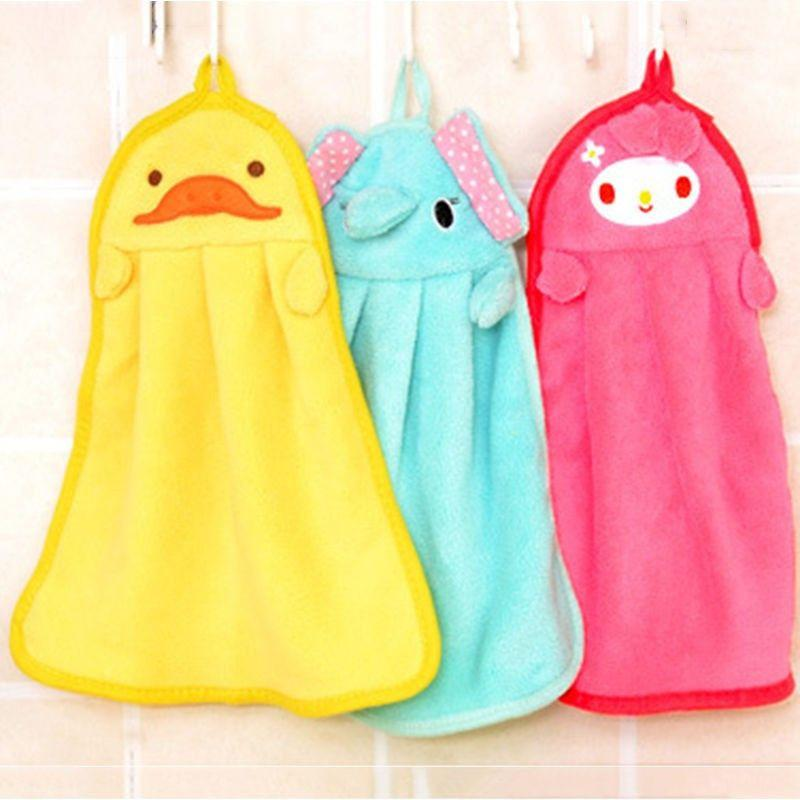 Cute Animal Microfiber Kids Children Cartoon Absorbent Hand Dry Towel Lovely Towel For Kitchen Bathroom Use-SheSimplyShops