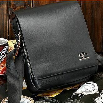 Men Messenger Bags Promotion Kangaroo Pu Leather Shoulder Bags For Men Handbags Cross body Bag Casual Briefcase-BAGS-SheSimplyShops