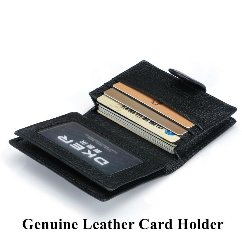 Genuine Leather Men Card Holder Fashion Credit Card Holders Men Short Wallet Purse Business Card Id Holder High Quality-WALLETS-SheSimplyShops