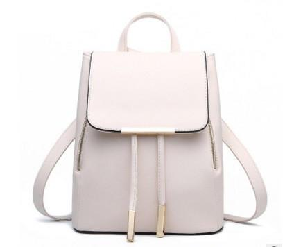 Casual Backpacks Women Pu Leather School Bags For Teenager Girls Top-handle Backpack Female Travel Shoulder Bag Ladies-Tops-SheSimplyShops