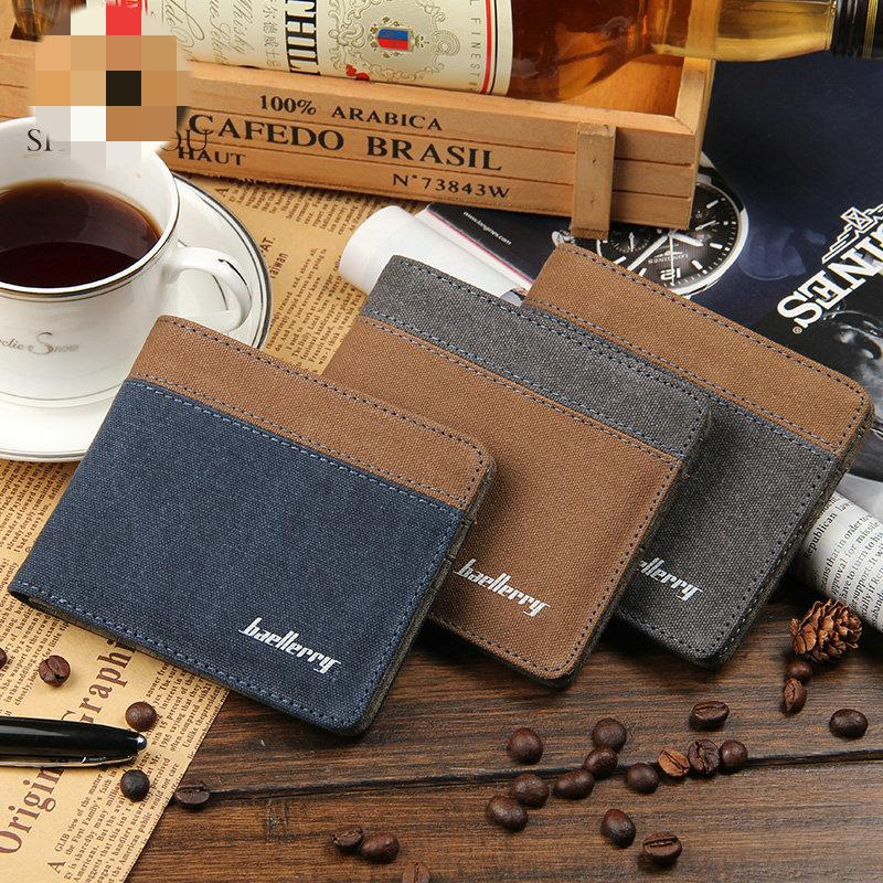 Fashion Men Wallets Short Wallet Men Canvas Purse Brand Designer Card Holder Wallet-WALLETS-SheSimplyShops