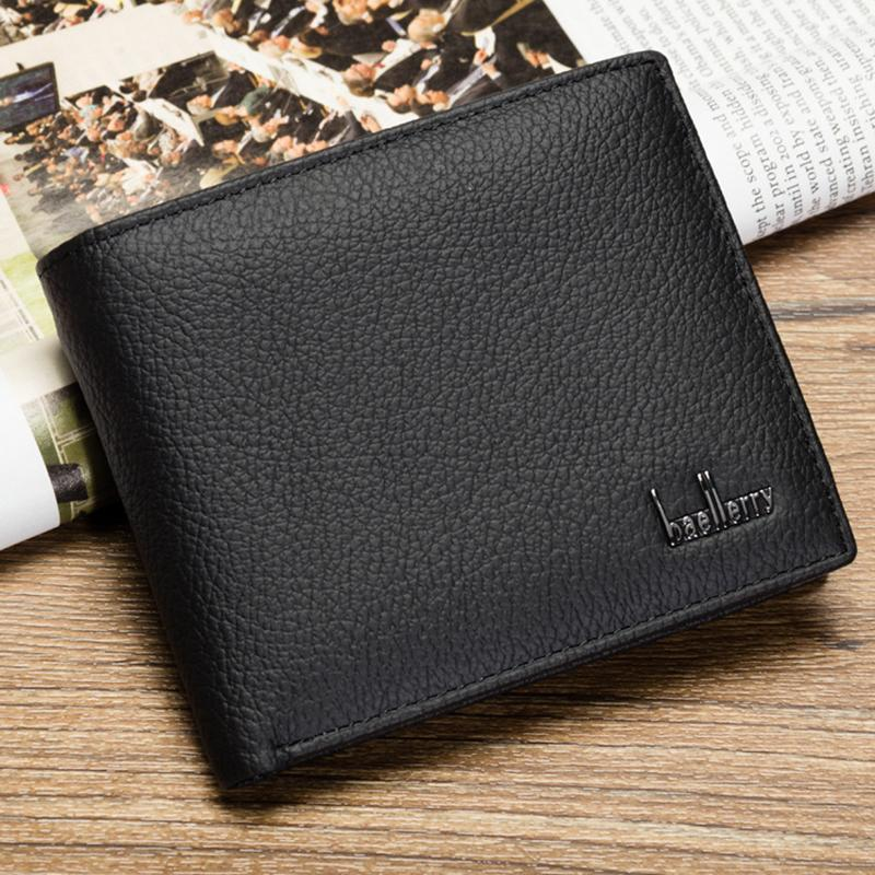 Genuine Leather Wallets Men Fashion Short Male Wallets Solid Men Coin Purse Wallet Card Holder Dollar Price Clutch Bags-BAGS-SheSimplyShops