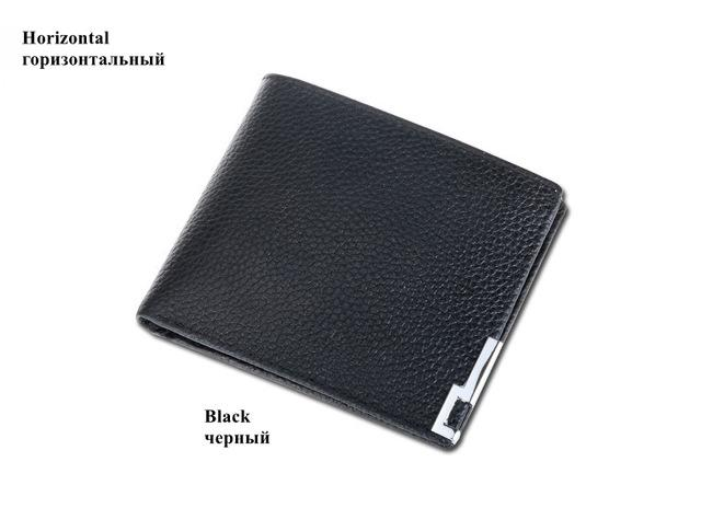 Genuine Leather Wallet Fashion Short Card Holder Men Clutch Bags Casual Solid Men Wallets Coin Purse Money Male Wallet-BAGS-SheSimplyShops