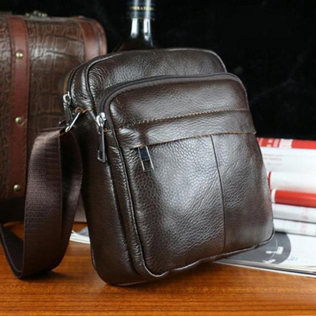 Genuine Cowhide Leather Shoulder Bags Brand Handbags Vintage Men Messenger Bags Fashion Cross body Bags For Men Briefcase-BAGS-SheSimplyShops