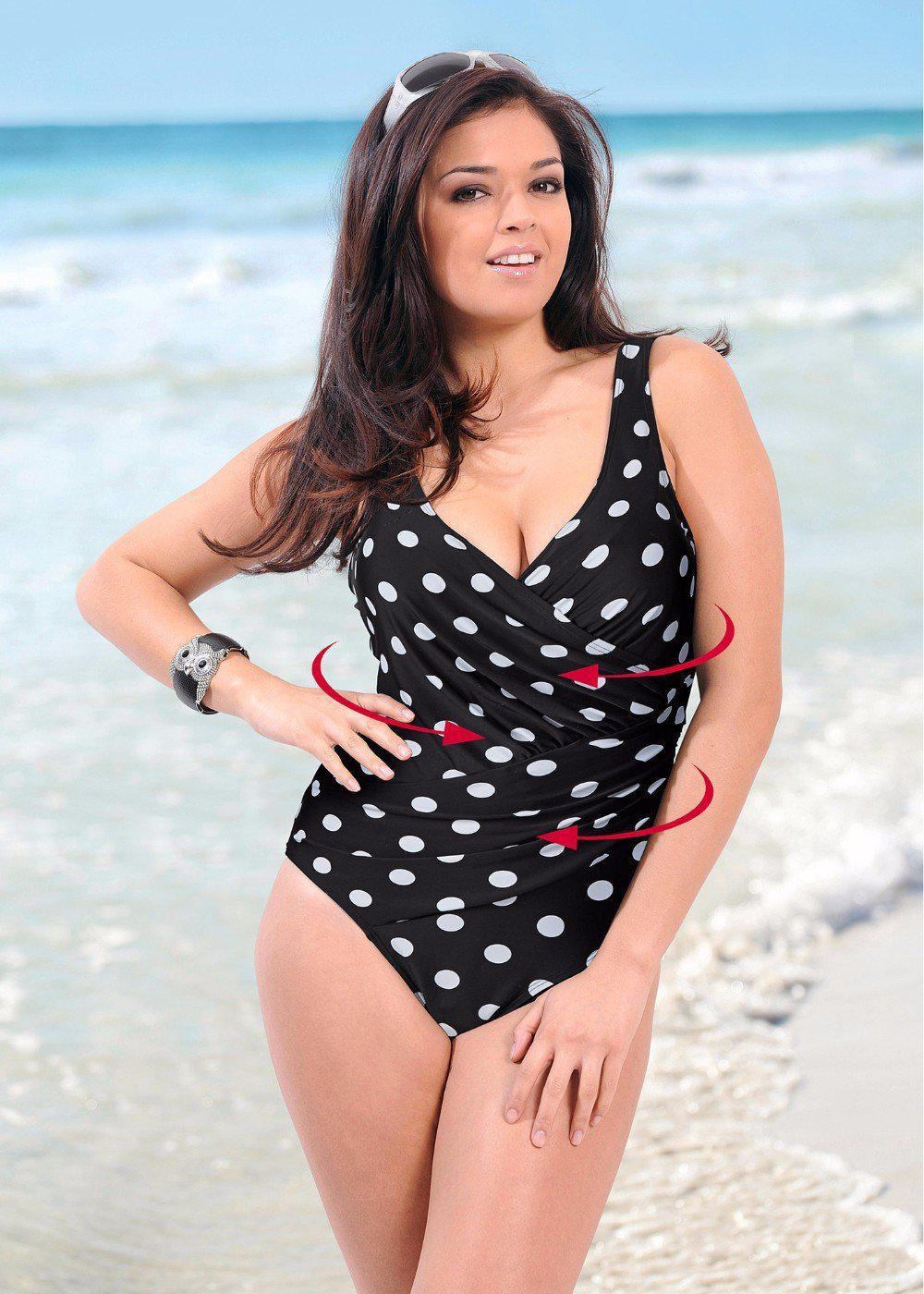 One Piece Plus Size Retro Vintage Swimsuit-SWIMWEAR-SheSimplyShops