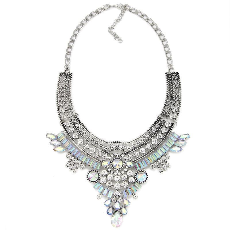 Statement Necklace with Pendants-NECKLACES-SheSimplyShops