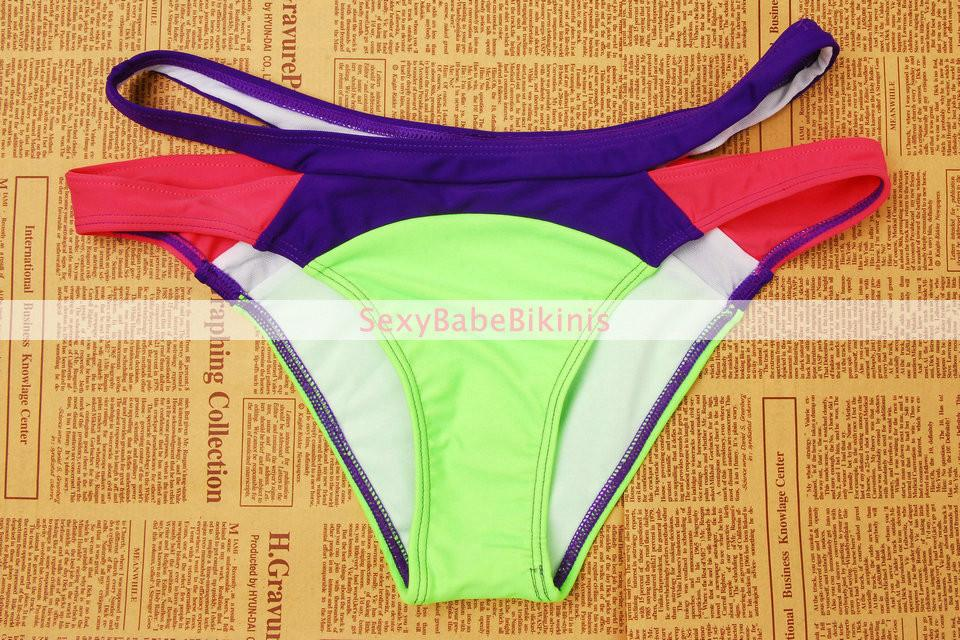 New Swimsuit Summer Sexy Bikini Dynamic Bordered Color Bandage Brand Gini Bikinis Set Swimwear Biquini Plus Size-SWIMWEAR-SheSimplyShops