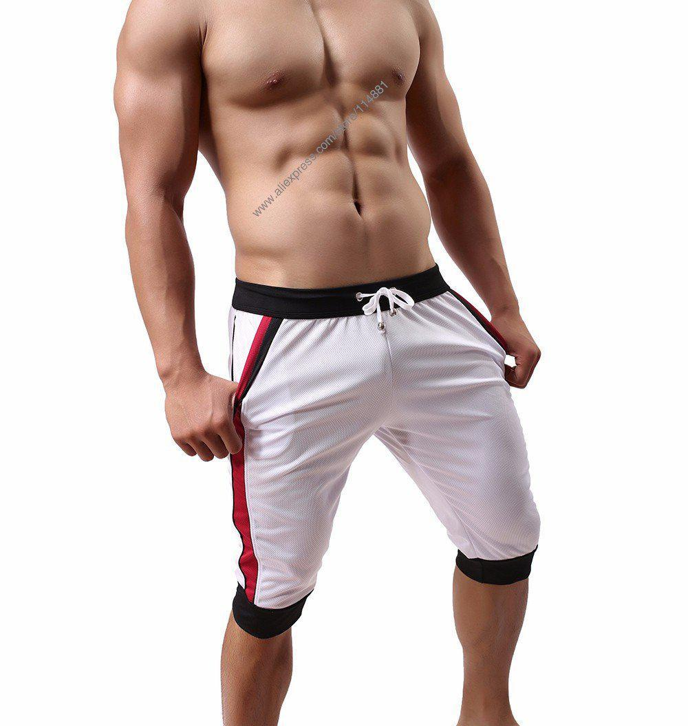 New Fashion Mesh Men's Shorts Summer Leisure Home Wear Shorts Elastic Waist Cool Men's Shorts Fitness Workout Shorts-PANTS-SheSimplyShops