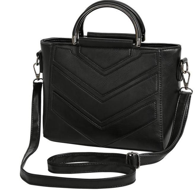 vintage casual small black geometric handbags women shopping purse ladies party clutch shoulder messenger crossbody bags-BAGS-SheSimplyShops