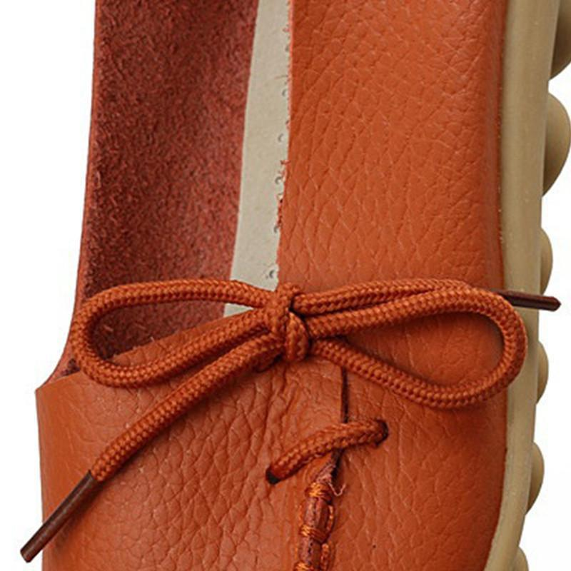 Genuine Leather Lace-Up Casual Shoes-SLIPS-SheSimplyShops