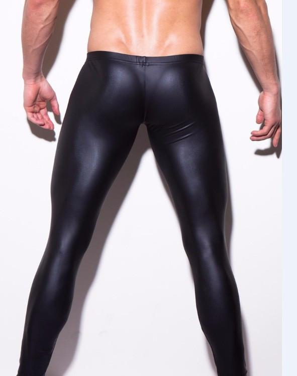 Men's gay underwear Men's appeal leather pants Show the leggings Men's trousers of imitation leather coat of paint-PANTS-SheSimplyShops