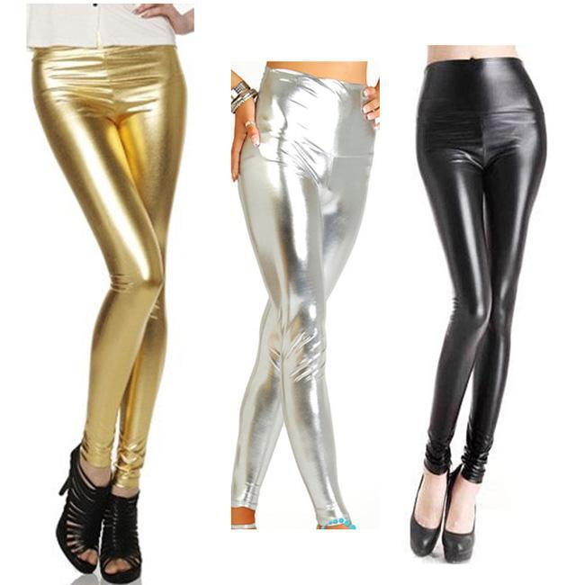 Beautiful Shinny Wet Look Pants-PANTS-SheSimplyShops