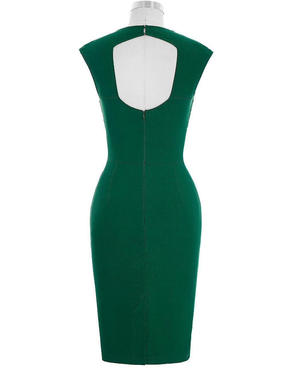 Elegant Sleeveless Bodycon Dress-Dress-SheSimplyShops