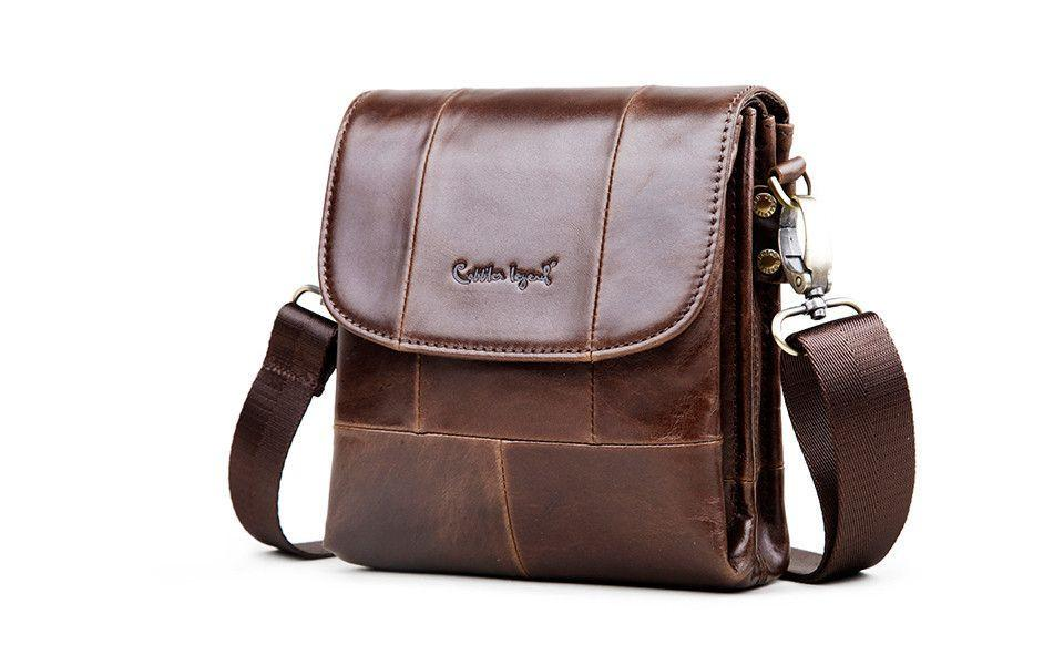 Cobbler Legend Original Real Cowhide Leather Men Bag For Man Vintage Style Men's Mini Cross Body Shoulder Bags-BELTS-SheSimplyShops