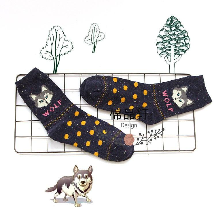 Lovely Fox Wolf Socks-SOCKS-SheSimplyShops