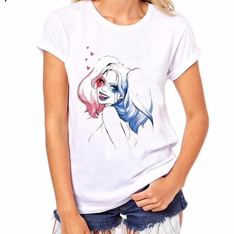 PyHen Summer Shirts Harley Quinn T Shirt Women O-neck T-shirt Casual t shirt Top Tees Camisa Short Sleeve-SHIRTS-SheSimplyShops