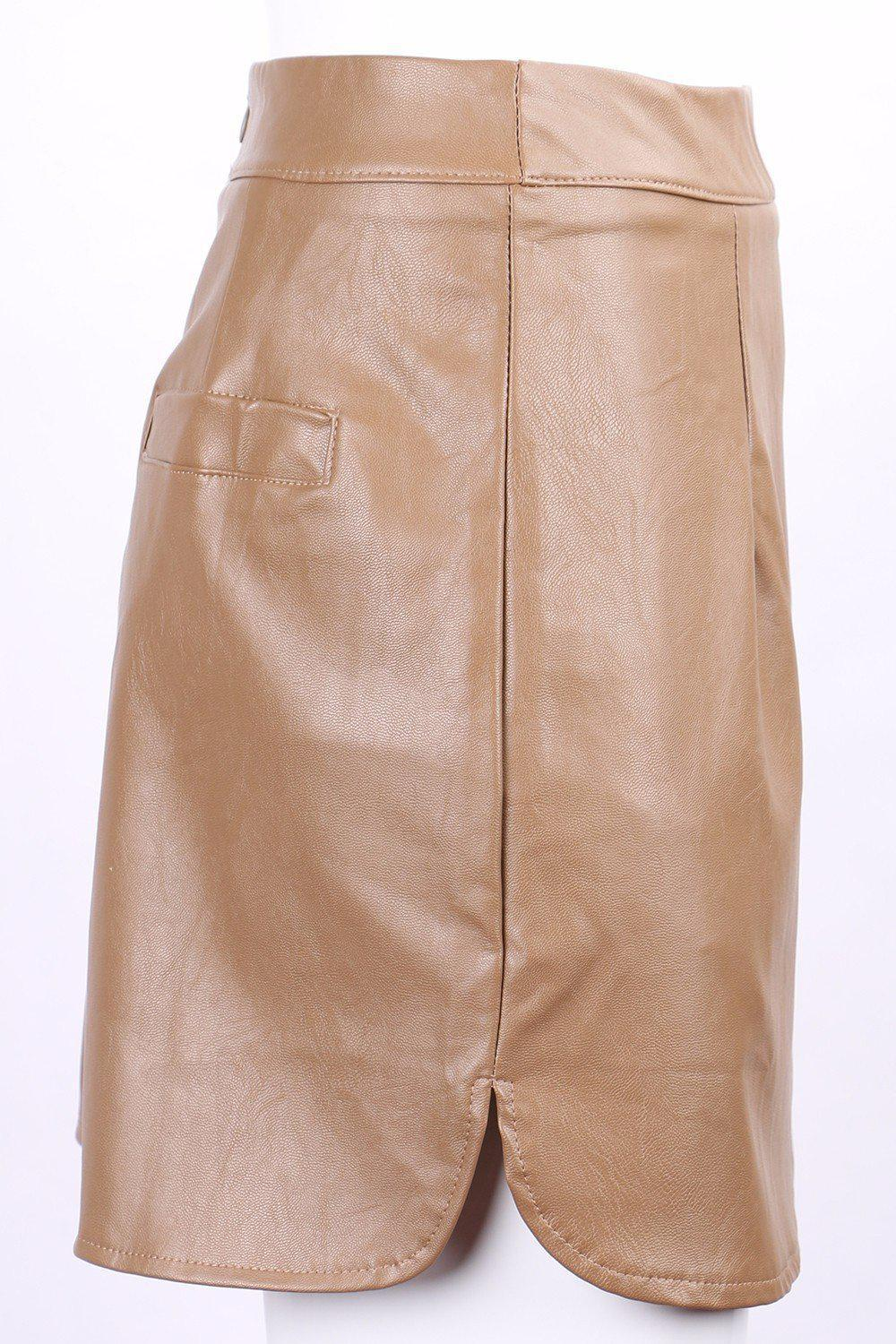Sexy Vintage Leather High Waist Skirts-Dress-SheSimplyShops