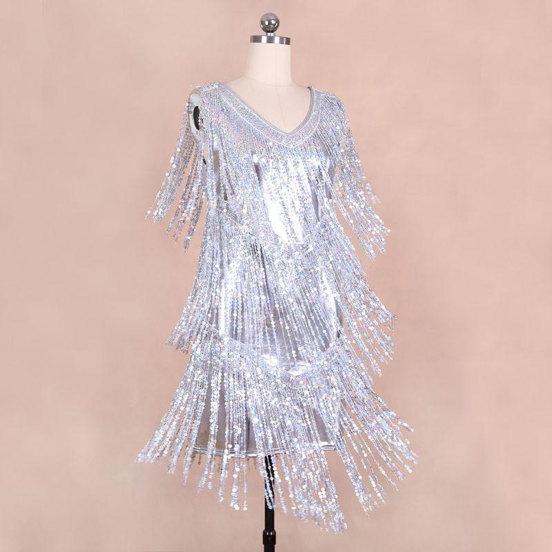 New arrival spring summer women sequin elegant beautiful dresses Gold Silver-Dress-SheSimplyShops