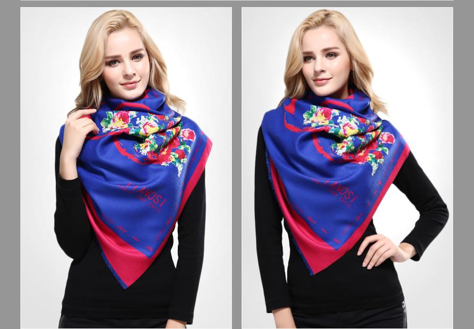 Luxury Scarf Woman Love Digital Printed Female Winter Cashmere Soft Shawl Scarves For Women-SCARVES-SheSimplyShops