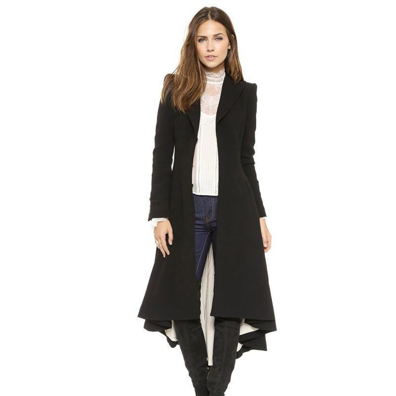 Dove tail Victoria office lady long coats-SKIRTS-SheSimplyShops