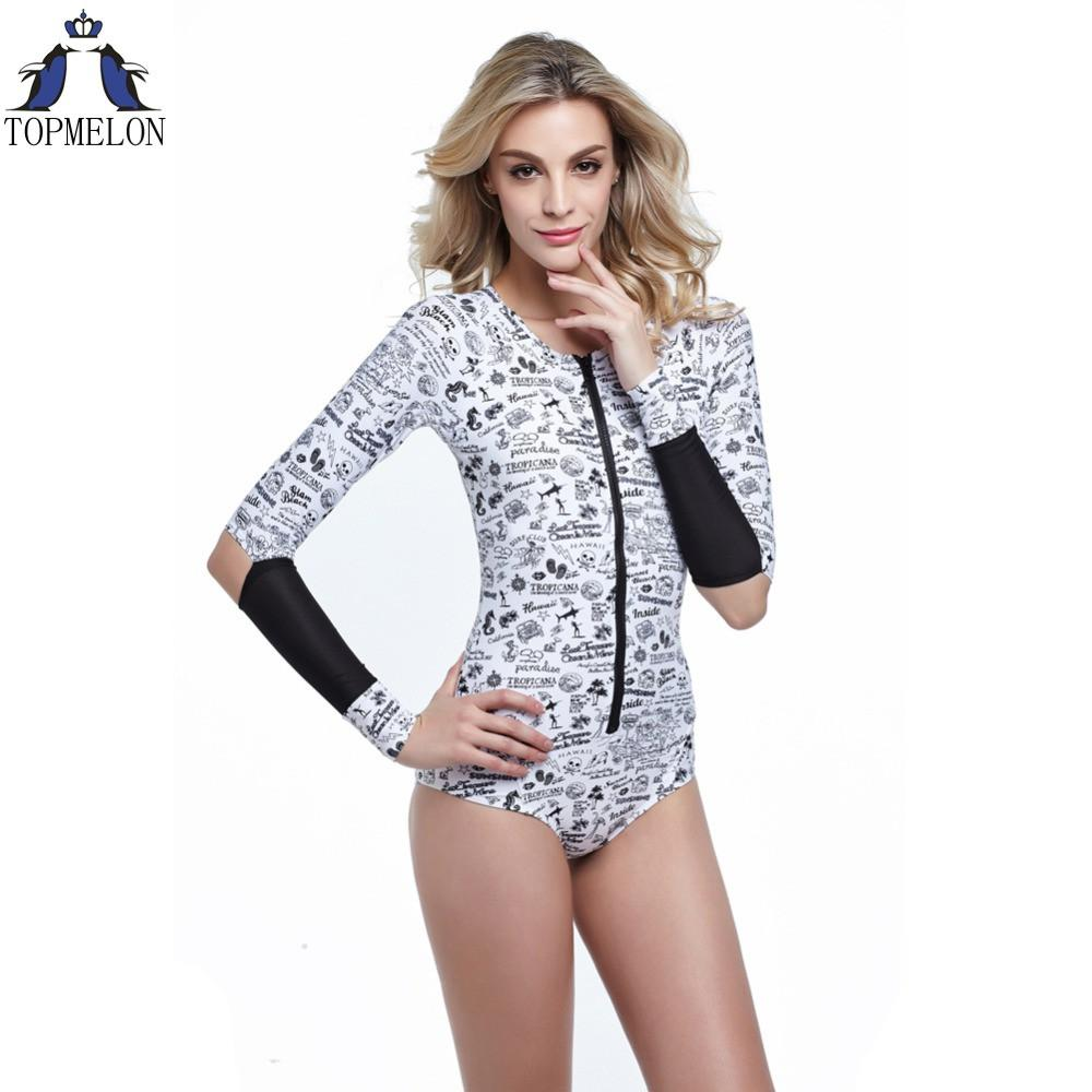 One piece swimsuit long sleeve biquini brasileiro swimwear women sexy one piece swimwear one piece bathing suits for women-Tops-SheSimplyShops