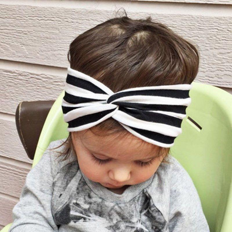 Baby Girl Headbands Kids Infant Striped Turban Baby Cute Hairband Hair Accessories Bandeau Knot Headband-ACCESSORIES-SheSimplyShops