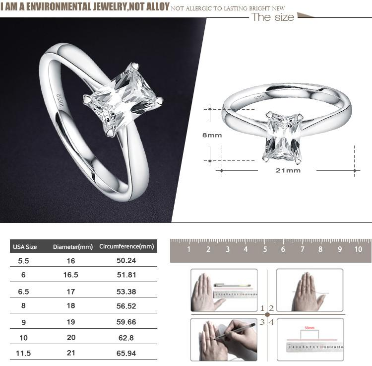 LZESHINE The Ring Sterling-silver-jewelry with Square Shape AAA Hearts & Arrows Cubic Zircon Wedding CZ Diamond-jewelry SRI0049-JEWELRY-SheSimplyShops