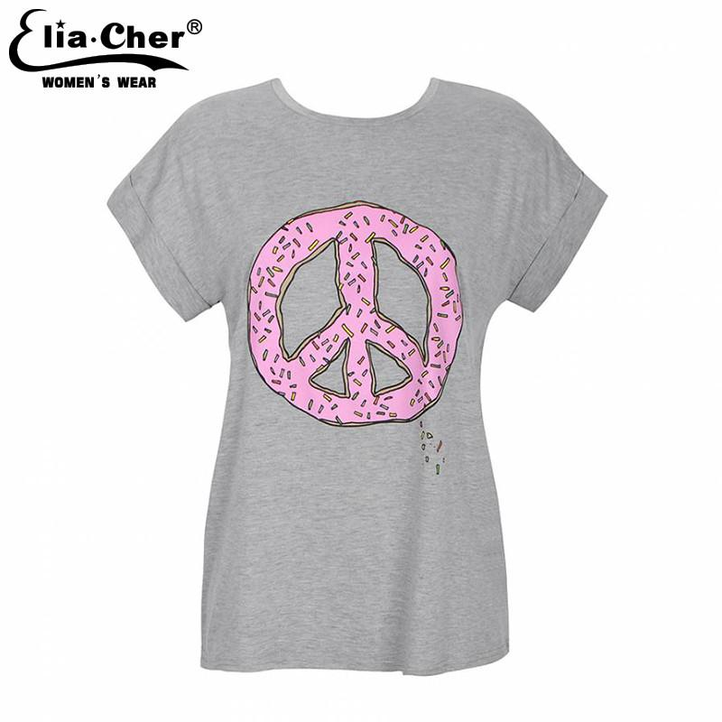 T-shirt Women Tops Chic Fashion Active Casual Summer Top Print Tee Plus Size Causal Women Clothing-SHIRTS-SheSimplyShops