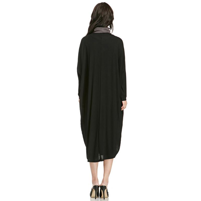 HDY Haoduoyi Summer Autumn Women Fashion Solid Black Long Sleeve Streetwear Coat Casual Loose Straight Longline Cardigan-Coats & Jackets-SheSimplyShops