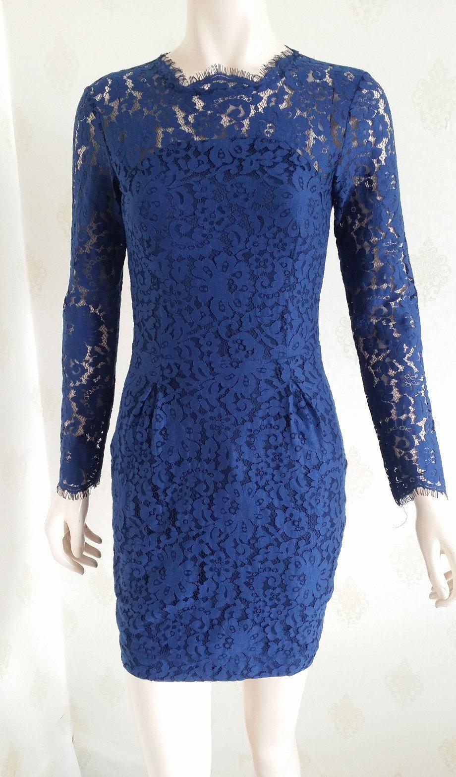 Sexy Slim Long Sleeve Mini Lace Dress-Dress-SheSimplyShops
