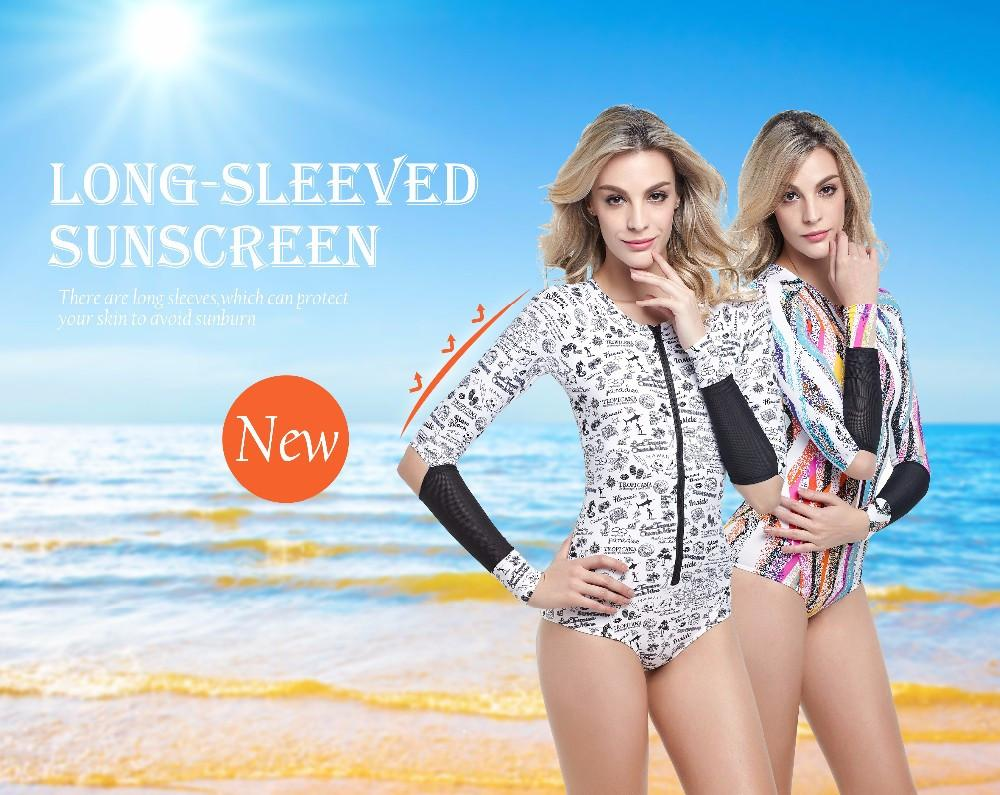 One piece long sleeve sexy Swimwear-SWIMWEAR-SheSimplyShops