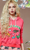 Elf SACK spring female vintage fashion embroidery short design with a hood sweatshirt z-HOODIES-SheSimplyShops