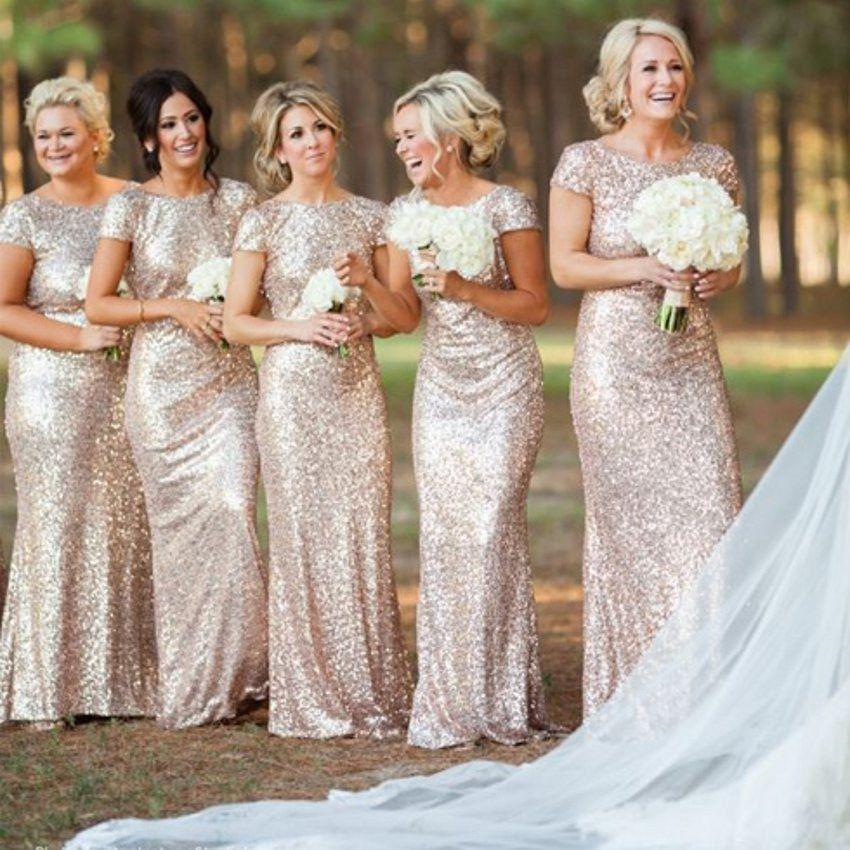 Sequin Bridesmaid Wedding Party Dress-Dress-SheSimplyShops